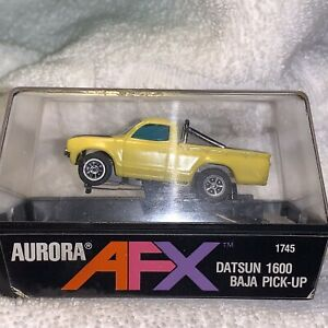 Aurora HO Slot Car AFX Baja Datsun Pickup with Cube