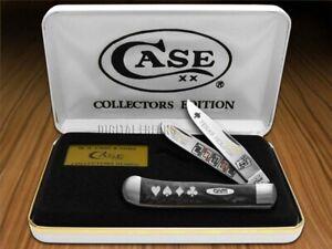 Case xx Trapper Knife Texas Hold'Em Black Pearl Corelon Stainless Pocket Knives