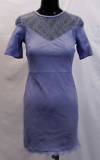 ASOS Women's Lace T-Shirt Dress With Sweetheart Neckline SV3 Blue US:4 UK:8