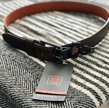 Walls Outdoor Men's Leather Belt Black and Brown High Quality RRP $40.00 NEW