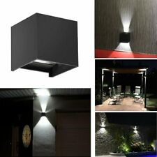 12W Modern Led Cob Wall Light Up Down Cube Sconce Lamp Fixtures Waterproof Ip65