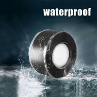 Rubber Silicone Repair Bonding Tape Waterproof Rescue Self Fusing Wire Black