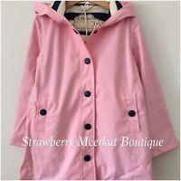 New AW17 Girl Hatley Pink & Navy Classic Splash Raincoat Mac Jacket 7 8 10 12