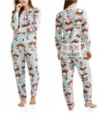 Secret Treasures S'Mores Dropseat Non Footed Pajamas Union Suit 1 Piece 2X or 3X