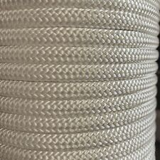 """3/8"""" x 92 ft. Double Braid Nylon Rope. White. Made In USA"""