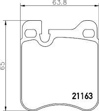 Mintex Rear Brake Pad Set MDB1886  - BRAND NEW - GENUINE - 5 YEAR WARRANTY