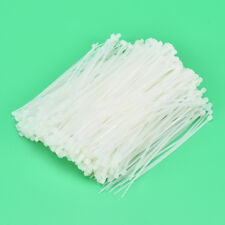 600PCS White Nylon Cable Wire Zip Ties Self-locking Nylon Tie  With 3*120mm FO