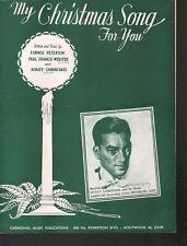 My Christmas Song For You 1944 Hoagy Carmichael Sheet Music