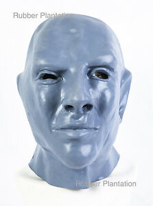 Fantomas Maschera Completo Testa Lattice Halloween Costume Blu 1964 Film Scena