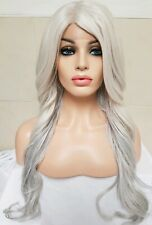 Grey Silver White Blonde Human Hair Wig Lace Front