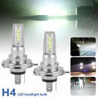 2pcs H4 LED Ampoules Brouillard Lampe Voiture Phare Blanc 6000K 8000LM Super DE