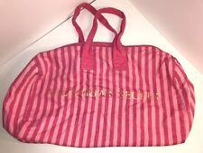 Victoria's Secret Pink Striped Purse Shoulder Bag Tote Carry On Duffel Weekender