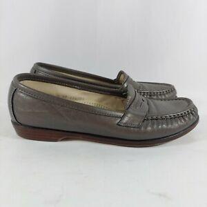 SAS Tripad Comfort Silver Penny Loafer Slip-On Flats Womens 7W (wide)