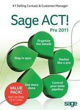 NEW Sage ACT! Pro 2011 (DVD) - 5 USERS - Full Version