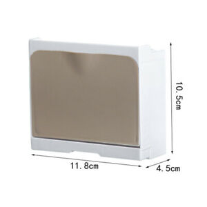 Wall Mount Soap Box With Lid Soap Storage Rack Draining Tray Self Adhesive Home