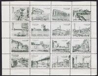 Regno 1933 - Graf Zeppelin serie di 6 foglietti erinnofili con 16 vignette.