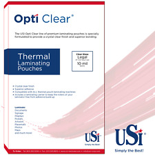 """Opti Clear Thermal (Hot) Laminating Pouches Legal Size 10 Mil 9x14.5"""" 50 Pouches"""