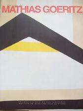 MATHIAS GOERITZ. LOS ECOS. 1997. vol 1. Exhibit Catalog. Mexican Art Book