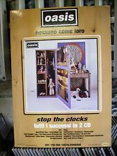 OASIS CARTONATO PUBBLICITARIO DISPLAY PROMO ADVERT  STOP THE CLOCKS cm.48x68