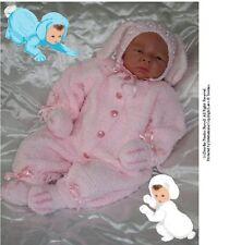 """Modèle: Handknit bébé / reborn combinaison & chapeau """"lapins"""" NPP hk203 par frandor formats"""