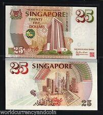 SINGAPORE 25 DOLLARS 1995 P33 LION MAS COMMEMORATIVE UNC ASIAN BANK NOTE MONEY