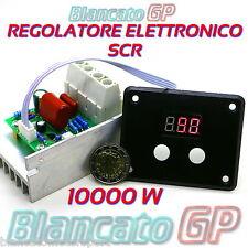REGOLATORE ELETTRONICO SCR 10000W 220V PER MOTORI AC VELOCITA LAMPADE DIMMER