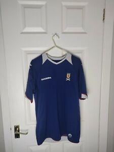 2008-09 DIADORA Scotland Home Shirt ALBA SIZE S Men's Trikot Soccer Football