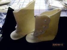 "Tallina S114 High-button Tan Doll Boot size 3 (3""  length X 1-1/4"")"
