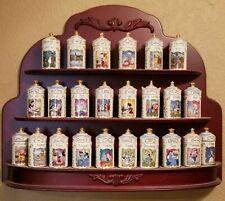 Disney Spice Jar Set by Lenox. 24 Spice Jars & Wooden Display Rack