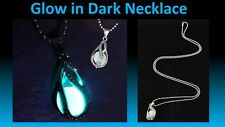 The Little Mermaid's Teardrop Glow in Dark Necklace Xmas GIFT with POUCH