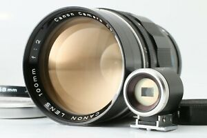 RARE 【Near MINT w/ Finder】 Canon 100mm f2 LTM L39 Leica L Mount Lens From JAPAN