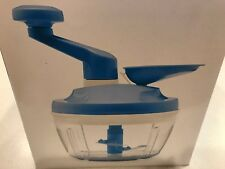 TUPPERWARE NEW QUICK CHEF PRO SYSTEM MANUAL FOOD PROCESSOR CHOP WHIP MIX