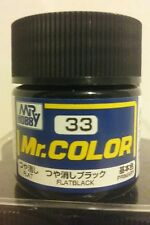 "Gunze Sangyo ""Mr Color"" acrylic paint C-33 Flat  Black 10ml."