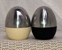 Vtg MCM Atomic Egg WMF Salt & Pepper Shakers Cromargan Stainless Steel Germany