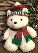 Dayton Hudson 1986 Collectible Santa Bear ~ Christmas Hat & Scarf ~ Excellent C.
