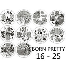 10x Nagel Schablone BORN PRETTY BP16-25 Nail Art Stamp Stamping Template Plates