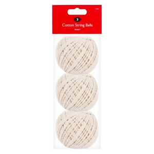 Pack of 3 Household Home Office Ball Of Cotton String Twine Rope