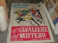 The Knight Del Mistero Manifesto 2F Original 1954 Alan Ladd P.Medina