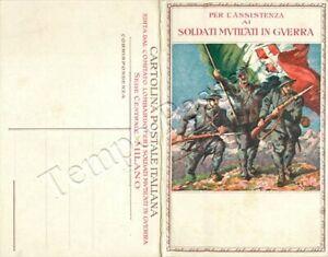 Cartolina postale commemorativa - Pro soldati mutilati (Trento e Trieste)