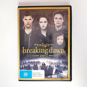 Twilight Breaking Dawn Part 2 Movie DVD Region 4 AUS Free Postage