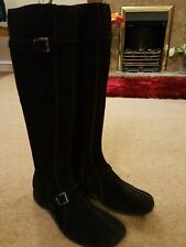 Suede Size 7 Brown Suede Knee High Boots