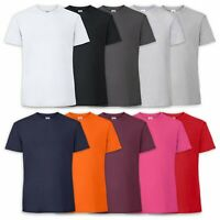 Clear Tshirt 100% Cotton Premium Ring Spun Fruit Of The Loom Mens Shirt S XXXL
