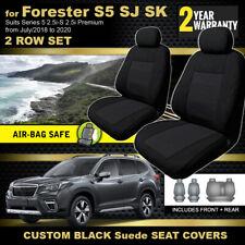 Custom BLACK Seat Covers for Subaru Forester SJ SK 2.5i Premium 2Row's 7/2018-20