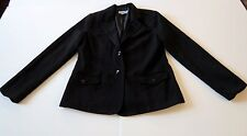 SAG HARBOR Size: 8 Women's Black Jacket Blazer Stretch Polyester/Rayon/Spandex