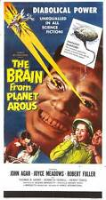 THE BRAIN FROM PLANET AROUS Movie POSTER 14x36 Insert John Agar Joyce Meadows