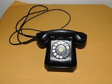 VINTAGE STROMBERG CARLSON BLACK ROTARY DIAL TELEPHONE *WORKING CONDITION*