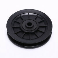 1pc 105mm Black Bearing Pulley Wheel Cable Gym Equipment Part Wearproof TC