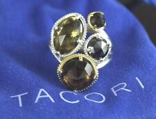 Tacori 18K Yellow Gold Silver Midnight Sun Precious Cluster Cocktail Ring Band