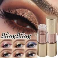 Waterproof Shiny Eyeshadow Glitter Liquid Eyeliner Makeup Eye-Liner Metallic New