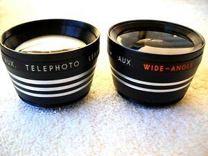 **SUN AUXILIARY TELEPHOTO 70mm/F2.5 & WIDE ANGLE 35mm/F2.5 LENSES, & LENS CAPS**
